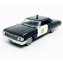 Imagem - Miniatura Carro Ford Galaxie 500 (1964) - Minneapolis Police Car - 1:18 - Sun Star