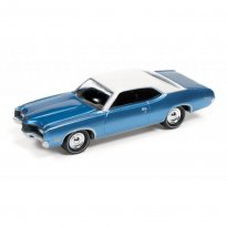 Imagem - Miniatura Carro Ford Mercury Montego (1971) - Muscle Cars U.S.A - Azul - 1:64 - Johnny Lightning