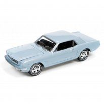 Imagem - Miniatura Carro Ford Mustang (1965) - Muscle Cars U.S.A - 2016 Series - Azul - 1:64 - Johnny Lightning