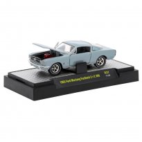 Imagem - Miniatura Carro Ford Mustang Fastback 2+2 200 (1965) Azul - Detroit Muscle - 1:64 - M2 Machines