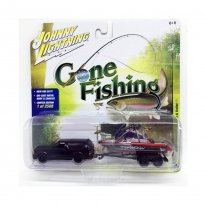 Imagem - Miniatura Carro GMC Typhoon c/ Barco e Trailer (1992) - Gone Fishing - 2017 Series - 1:64 - Johnny Lightning