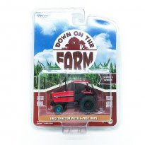 Imagem - Miniatura Trator Agrícola Tractor 4-Post Rops (1982) - Vermelho - Down On The Farm - Serie 3 - 1:64 - Greenlight (Chase / Green Machine)