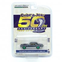 Miniatura Carro Ford Mercury Cougar XR7 GT-E 428 Cobra Jet (1968) - 80th Anniversary - 1:64 - Greenlight (Chase / Green Machine)