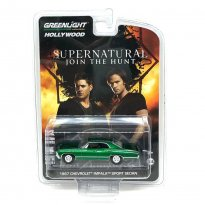 Imagem - Miniatura Carro Chevrolet Impala Sport Sedan 4 Portas (1967) Supernatural - 1:64 - (Green Machine) - Greenlight
