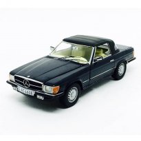 Imagem - Miniatura Carro Mercedes Benz 350 SL (1977) Closed Convertible - Preto - 1:18 - Sun Star