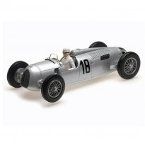 Imagem - Miniatura Carro Auto Union Typ C - #18 B. Rosemeyer - Winner Internationales Eifelrennen 1936 - 1:18 - Minichamps
