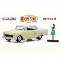 Imagem - Miniatura Carro Chevrolet Bel Air (1955) c/figura - The Hobby Shop - Series 3 - 1:64 - Greenlight