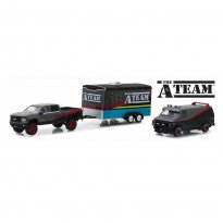 Imagem - Set Miniatura Chevrolet Silverado (2015) / GMC Vandura (1983) c/ Trailer - The A-Team - Hollywood - 1:64 - Greenlight