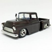 Miniatura Carro Chevrolet Stepside (1955) - Marrom - Bigtime Kustoms - 1:24 - Jada