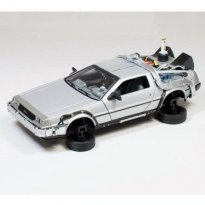 Imagem - Miniatura Carro Delorean Time Machine -