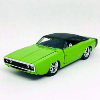 Miniatura Carro Dodge Charger R/T (1970) - Bigtime Muscle - Verde - 1:24 - Jada Toys