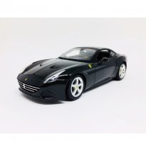 Imagem - Miniatura Carro Ferrari California T (Closed Top) - Race e Play - Preto - 1:18 - Burago
