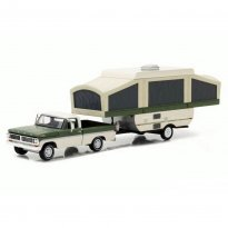 Imagem - Ford: F-100 (1970) c/ Pop-Up Camper Trailer - Hitch & Tow - Série 10 - 1:64 - Greenlight