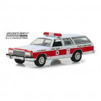 Imagem - Miniatura Carro Ford LTD Crown Victoria Wagon (1985) Bombeiro - 1:64 - Greenlight Collectibles