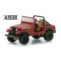 Miniatura Carro Jeep CJ-7 - The A-Team - Hollywood - Série 24 - 1:64 - Greenlight