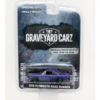 Imagem - Miniatura Carro Plymouth Road Runner (1970) Graveyard Carz - 1:64 - Greenlight (Chase / Green Machine)