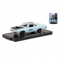 Imagem - Miniatura Carro Plymouth Road Runner 440 6-Pack (1969) - Auto-Drivers - Azul - 1:64 - M2 Machines
