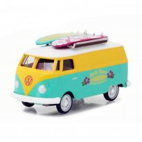 Imagem - Miniatura Carro Volkswagen Kombi Type 2 Panel Surf (1968) - Blue Collar Collecction - Série 3 - 1:64 - Greenlight