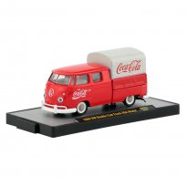 Imagem - Miniatura Carro Volkswagen Kombi Double Cab Truck USA Model (1960) - Coca-Cola - 1:64 - M2 Machines