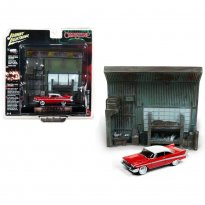 Imagem - Miniatura Diorama Plymouth Fury (1958) - Christine - 1:64 - Johnny Lightning