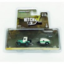Imagem - Miniatura Carro Jeep CJ-5 c/ Trailer (1972) - Hitch & Tow - 1:64 - Greenlight (Chase / Green Machine)