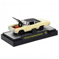 Imagem - Plymouth: Road Runner 440 6-Pack (1969) Creme - Detroit Muscle - 1:64 - M2 Machines