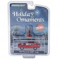 Plymouth: Hemi Cuda (1970) - Holiday Ornaments - Série 1 - 1:64 - Greenlight