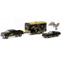 Imagem - Set Pontiac Trans AM (1980) / Chevrolet Silverado (2015) c/ Trailer - Smokey and the Bandit II - Hitch & Tow Hollywood - Series 1 - 1:64 - Greenlight