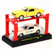 Imagem - Set: Ford Mustang (1965) - Amarelo/Branco - Auto Lift - 1:64