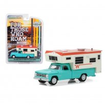 Imagem - Miniatura Picape Dodge D100 (1965) C/ Winnebago Slide-in Camper - 1:64 - Greenlight
