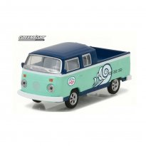 Imagem - Miniatura Carro Volkswagen Kombi Type 2 Double Cab Pick-Up - Surf Shop - 1:64 - Greenlight