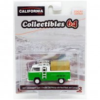 Imagem - Miniatura Carro Volkswagen Kombi Type 2 Double Cab Pickup (1971) - California Toys - 1:64 - Greenlight