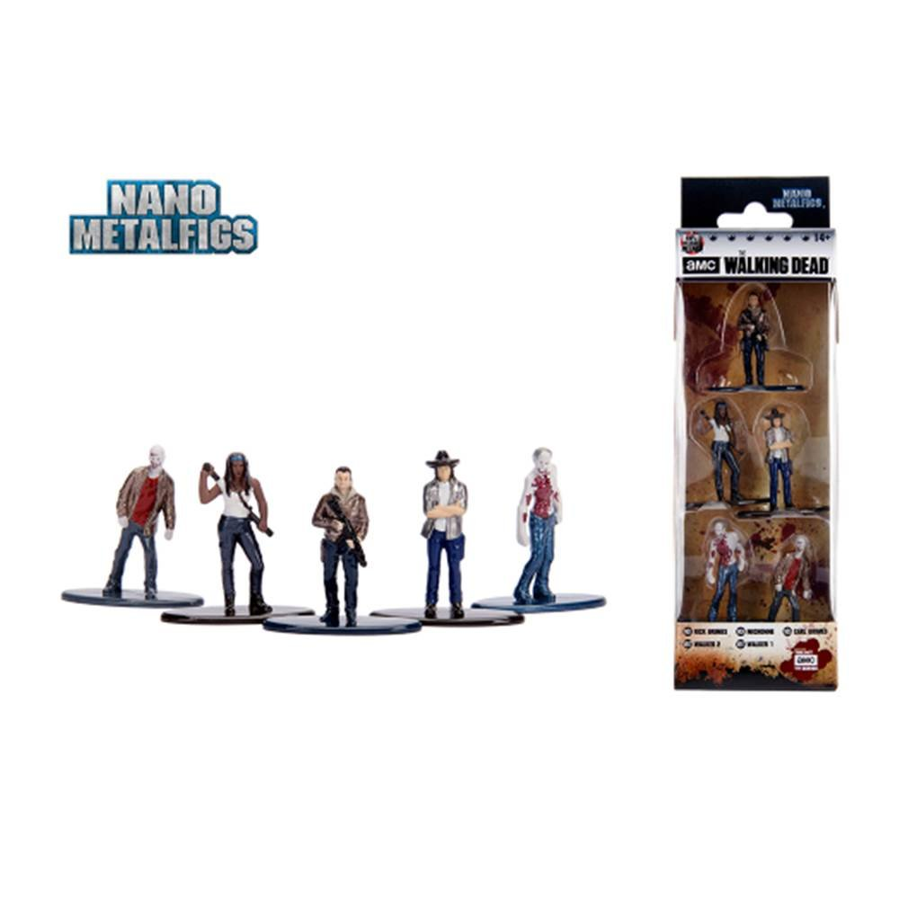 74c9c3b237 Pack c/ 5 Figuras - The Walking Dead AMC Set 2 - Nano Metalfigs -