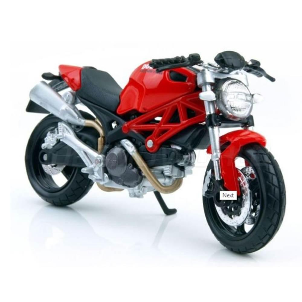 8195b6c815 Miniatura Moto Ducati Monster 696 - Vermelha / Preta - 1:18 - Maisto